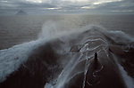 Warspite nuclear submarine plaIning in the north Atlantic off coast line of UK. Ailsa Craig island.