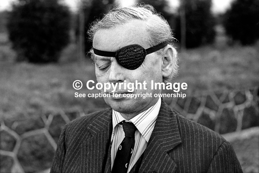 Mr T E Utley, aka Peter Utley, English, UK, High Tory, journalist, who stood unsuccessfuly as an Ulster Unionist candidate in the February 1974 UK General Election. He fought the Rev Ian Paisley for the North Antrim seat. 197402001234b<br /> <br /> Copyright Image from Victor Patterson, 54 Dorchester Park, Belfast, UK, BT9 6RJ<br /> <br /> Tel: +44 28 9066 1296<br /> Mob: +44 7802 353836<br /> Voicemail +44 20 8816 7153<br /> Email: victorpatterson@me.com<br /> Email: victorpatterson@gmail.com<br /> <br /> IMPORTANT: My Terms and Conditions of Business are at www.victorpatterson.com