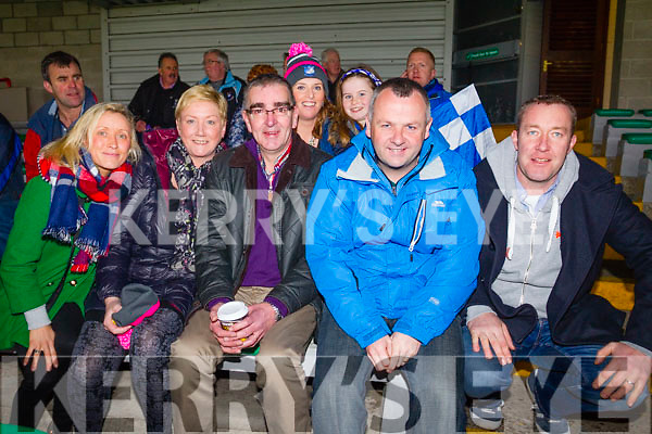 Grace King, Aoife O'Shea, Caroline Clifford, Ciara Clifford, Sean O'Shea, Tom Keane Micheál O'Connell, St Mary's  fans pictured at the football intermediate club championship semi-final, at the Gaelic Grounds, Limerick on Sunday last.