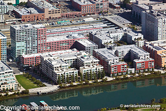 Aerial photograph Mission Bay residential San Francisco California