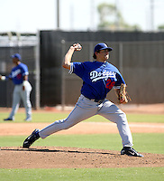 Nathan Eovaldi / Los Angeles Dodgers 2008 Instructional League..Photo by:  Bill Mitchell/Four Seam Images