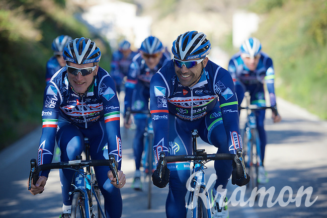Enrico Gasparotto (ITA/Wanty-Groupe Gobert) & Danilo Napolitano (ITA/Wanty-Groupe Gobert) up front<br /> <br /> Pro Cycling Team Wanty-Groupe Gobert <br /> <br /> Pre-season Training Camp, january 2016