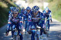 Enrico Gasparotto (ITA/Wanty-Groupe Gobert) &amp; Danilo Napolitano (ITA/Wanty-Groupe Gobert) up front<br /> <br /> Pro Cycling Team Wanty-Groupe Gobert <br /> <br /> Pre-season Training Camp, january 2016