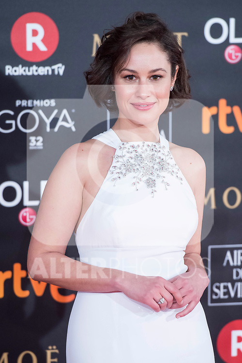 Aida Folch attends red carpet of Goya Cinema Awards 2018 at Madrid Marriott Auditorium in Madrid , Spain. February 03, 2018. (ALTERPHOTOS/Borja B.Hojas)