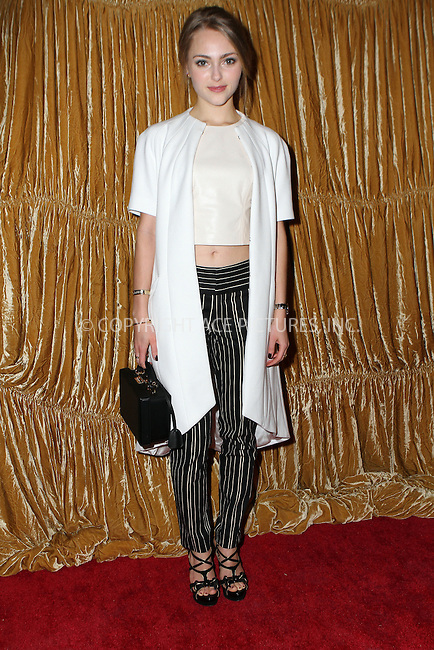 WWW.ACEPIXS.COM<br /> <br /> February 16, 2015 New York City<br /> <br /> AnnaSophia Robb at the alice + olivia by Stacey Bendet fashion presentation on February 16, 2015 in New York City. <br /> <br /> By Line: Nancy Rivera/ACE Pictures<br /> <br /> <br /> ACE Pictures, Inc.<br /> tel: 646 769 0430<br /> Email: info@acepixs.com<br /> www.acepixs.com