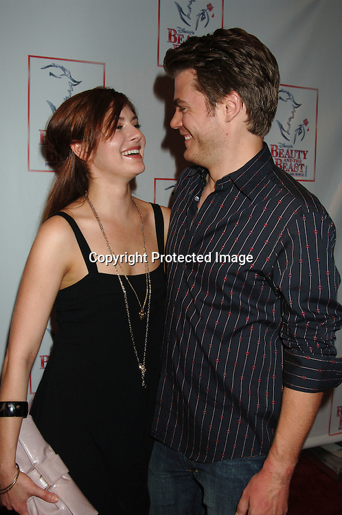 """Connie Fletcher and Jeff Branson..at The 5000th performance of """"Beauty and The Beast""""..on June 20, 2006 at The Lunt-Fontanne Theatre...Jacob Young of All My Children is starring as Lumiere. ..Robin Platzer, Twin Images"""