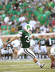 DENTON, TX - AUGUST 31: North Texas Mean Green kicker Zach Olen (37) of the North Texas Mean Green Football vs Idaho Vandals at Apogee Stadium in Denton on August 31, 2013 in Denton, Texas. Photo by Rick Yeatts