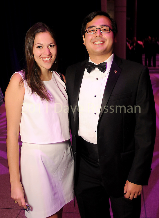 Alissa Frank and Bat Taniguchi at the Big Bang Ball at the Houston Museum of Natural Science Saturday March  04,2017. (Dave Rossman Photo)
