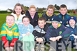 ATHLETE FUN: Pupils of Kilmoyley NS having loads of fun at St Brendan's A.C. schools qualifiers at Spa G.A.A. grounds last Friday evening front l:r Paudie Godley, Michaela Lacey, Maurice O'Connor, Paudie O'Connor and Owen O'Sullivan. Back l:r Orla Young, Louise O'Flaherty, Niall Meehan and Owen McCarty..   Copyright Kerry's Eye 2008