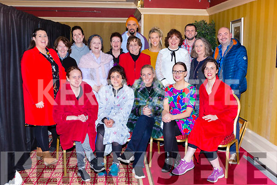 The cast of Dochas series of short plays that opened in the Killarney Avenue Hotel on Monday night