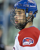 Joseph Pendenza (Lowell - 14) - The visiting Northeastern University Huskies defeated the University of Massachusetts-Lowell River Hawks 3-2 with 14 seconds remaining in overtime on Friday, February 11, 2011, at Tsongas Arena in Lowelll, Massachusetts.