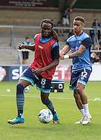 Marcus Bean of Wycombe Wanderers during the Pre-Season Friendly match between Wycombe Wanderers and Queens Park Rangers at Adams Park, High Wycombe, England on the 22nd July 2016. Photo by Liam McAvoy / PRiME Media Images.