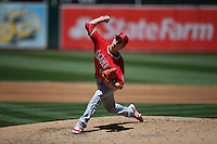 OAKLAND, CA - JUNE 18:  Tim Lincecum #55 of the Los Angeles Angels of Anaheim pitches against the Oakland Athletics during the game at the Oakland Coliseum on Saturday, June 18, 2016 in Oakland, California. Photo by Brad Mangin