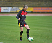 20131013 - BAMBERG , GERMANY :  Belgian Chiara Steyvers pictured during the female soccer match between Switzerland Women U17 and Belgium U17 , in the second game of the Elite round in group 6 in the UEFA European Women's Under 17 competition 2013 in the Fuchs Park Stadion - Bamberg  Sunday 13 October 2013. PHOTO DAVID CATRY