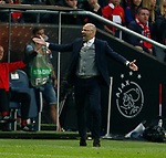 Peter Bosz manager of Ajax during the UEFA Europa League Final match at the Friends Arena, Stockholm. Picture date: May 24th, 2017.Picture credit should read: Matt McNulty/Sportimage