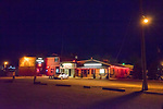 Brothel exteriors at night, Winnemucca, Nevada.