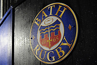 A general view of the Bath Rugby emblem in the tunnel. Anglo-Welsh Cup Semi Final, between Bath Rugby and Northampton Saints on March 9, 2018 at the Recreation Ground in Bath, England. Photo by: Patrick Khachfe / Onside Images