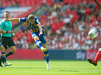 Shrewsbury Bryn Morris during the Sky Bet League 1 Play Off FINAL match between Rotherham United and Shrewsbury Town at Wembley, London, England on 27 May 2018. Photo by Andrew Aleksiejczuk / PRiME Media Images.