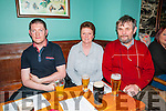 Clonmel Coursing Preview: Attending the Clonmel coursing preview at The Dew Drop Inn, Lixnaw on Sunday evening last were John & Evelyn Houlihan & Mike O'Brien.