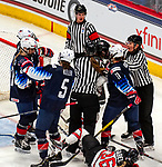 December 14, 2019:  Team USA dominated Canada in women's hockey, winning 4-1. The feisty opening game of a five-match series took place at the XL Center in Hartford, Connecticut. Heary/Eclipse Sportswire/CSM