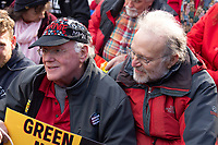 Ben Cohen and Jerry Greenfield, of Ben and Jerry's Ice Cream, participates in a climate protest outside the White House in Washington D.C., U.S., on Friday, November 8, 2019.  Activists marched from the U.S. Capitol to the White House to draw attention to the need to address climate change.  Credit: Stefani Reynolds / CNP /MediaPunch
