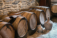 Hard cider wooden casks, Hancock Shaker Village, Hancock, Massachusetts, USA