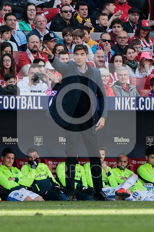 CD Leganes's coach Mauricio Pellegrino during La Liga match between Atletico de Madrid and CD Leganes at Wanda Metropolitano stadium in Madrid, Spain. March 09, 2019. (ALTERPHOTOS/A. Perez Meca)
