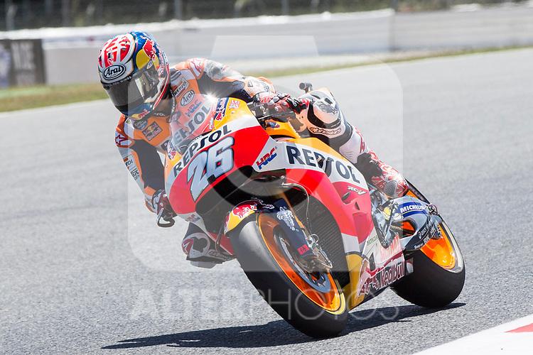 Dani Pedrosa of Spain and Repsol Honda Team rides during the qualifying for the MotoGP of Catalunya at Circuit de Catalunya on June 9, 2017 in Montmelo, Spain.(ALTERPHOTOS/Rodrigo Jimenez)