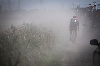 Lars Boom (NED/Roompot-Charles) riding the dust<br /> <br /> Antwerp Port Epic 2019 <br /> One Day Race: Antwerp > Antwerp 187km<br /> <br /> ©kramon
