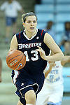 11 November 2012: Duquesne's Orsi Szecsi. The University of North Carolina Tar Heels played the Duquesne University Dukes at Carmichael Arena in Chapel Hill, North Carolina in an NCAA Division I Women's Basketball game, and a quarterfinal in the Preseason WNIT. UNC won the game 62-58