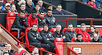 Zlatan Ibrahimovic of Manchester United and Michael Carrick of Manchester United start on the bench during the English Premier League match at Old Trafford Stadium, Manchester. Picture date: April 16th 2017. Pic credit should read: Simon Bellis/Sportimage