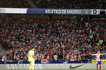 -Atleti'0s supporters during La Liga match. Aug 18, 2019. (ALTERPHOTOS/Manu R.B.)-Atleti'0s supporters  during the Spanish La Liga match between Atletico de Madrid and Getafe CF at Wanda Metropolitano Stadium in Madrid, Spain