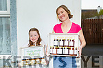 Simply Devine Preserves : Emily Devine, Ballybunion & Tarbert pictured with her daughter Balvenie displaying her Honey, Blackcurrant Jam, Irish Whiskey Marmalade & Berry & Apple products.