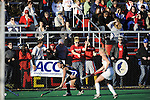 Maryland plays Duke in the ACC semi-finals on November 4, 2011 in College Park, Maryland. (Greg Fiume/ACC)