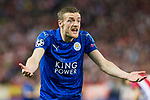 Jamie Vardy of Leicester City Football Club during the match of  Champions LEague between  Atletico de Madrid and LEicester City Football Club at Vicente Calderon  Stadium  in Madrid, Spain. April 12, 2017. (ALTERPHOTOS / Rodrigo Jimenez)