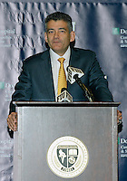 Florida International University Athletic Director Pete Garcia  announces that FIU has joined Conference USA on May 4, 2012, at Miami, Florida..