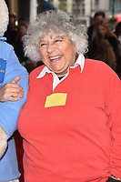 Miriam Margolyes attends the Celebrity Gala Performance of 'Where Is Peter Rabbit?' at The Theatre Royal in London, England. Tuesday 9th April 2019.<br /> CAP/JWP<br /> ©JWP/Capital Pictures