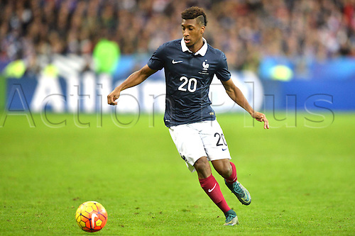 13.11.2015. Stade de France, Paris, France. International football friendly. France versus Germany.  Kingsley Coman . The game was parially interupted as the paris terror attacks took place and bombs were heard going off outside the stadium.