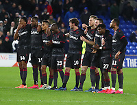 4th February 2020; Cardiff City Stadium, Cardiff, Glamorgan, Wales; English FA Cup Football, Cardiff City versus Reading; Reading players group before the penalties