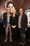 Andrew Lloyd Webber, Glenn Close and Lonny Price attend the 'Sunset Boulevard' Broadway Cast Photocall at The Palace Theatre on January 25, 2017 in New York City.