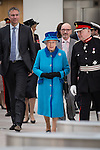 © Joel Goodman - 07973 332324 . No syndication permitted . 14/11/2013 . Manchester , UK . Queen Elizabeth II and the Duke of Edinburgh visit the Coop building at 1 Angel Square , Manchester , this morning ( 14th November 2013 ) . Photo credit : Joel Goodman