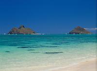 Mokulua Islands, Lanikai Beach, Oahu, Hawaii