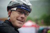 2013 Giro d'Italia.stage 12.Longarone - Treviso: 134km..Lars Bak (DNK) before the stage.