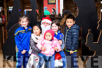 Meeting Santa in Killorglin on Saturday<br /> L-R Niamh Murphy, Chloe Jiang, Rebecca Jiang, Orla Murphy & Leo Jiang