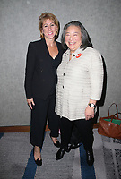 LOS ANGELES, CA - NOVEMBER 2: Sharon Waxman, Tina Tchen, at TheWrap's Power Women's Summit Inside at the InterContinental Hotel in Los Angeles, California on November 2, 2018. Credit: Faye Sadou/MediaPunch