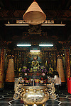 Bao-jhong Yi-min Temple, Kaohsiung -- The main hall of a Taoist temple.