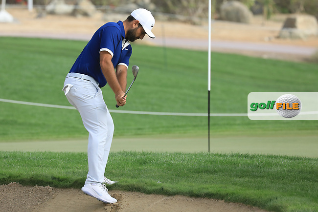 Alexander Levy (FRA) in action during the first round of the Omega Dubai Desert Classic, Emirates Golf Club, Dubai, UAE. 24/01/2019<br /> Picture: Golffile | Phil Inglis<br /> <br /> <br /> All photo usage must carry mandatory copyright credit (&copy; Golffile | Phil Inglis)