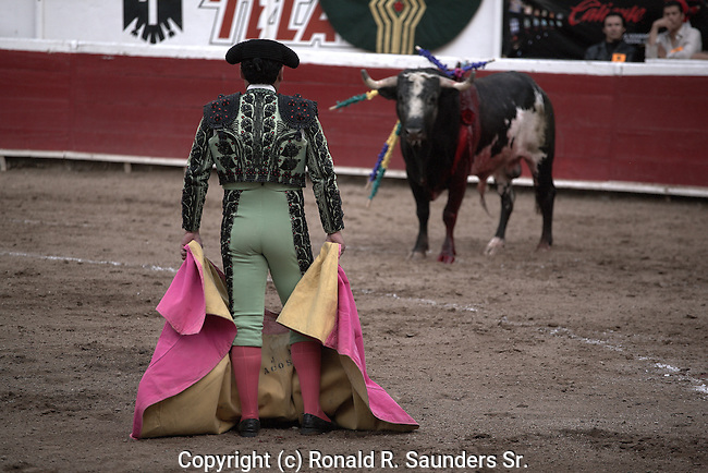 MATADOR CHALLENGES WOUNDED BULL