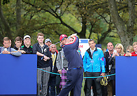 23 Sept 14 American Patrick Reed during the Tuesday Practice Round at The Ryder Cup at The Gleneagles Hotel in Perthshire, Scotland. (photo credit : kenneth e. dennis/kendennisphoto.com)