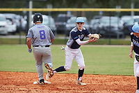 Peter Jelenic (6) of Medina, Ohio during the Baseball Factory All-America Pre-Season Rookie Tournament, powered by Under Armour, on January 13, 2018 at Lake Myrtle Sports Complex in Auburndale, Florida.  (Michael Johnson/Four Seam Images)
